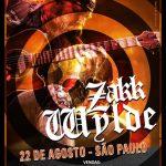 Zakk Wylde fará show acústico em São Paulo