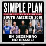 Simple Plan volta ao Brasil em turnê mundial